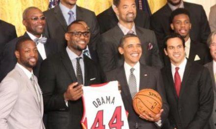 Obama praises Miami Heat