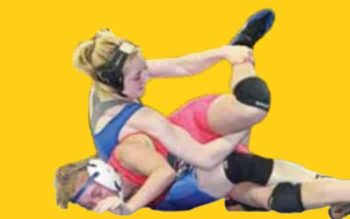Waldorf College womens wrestling. image c/o Waldorf.