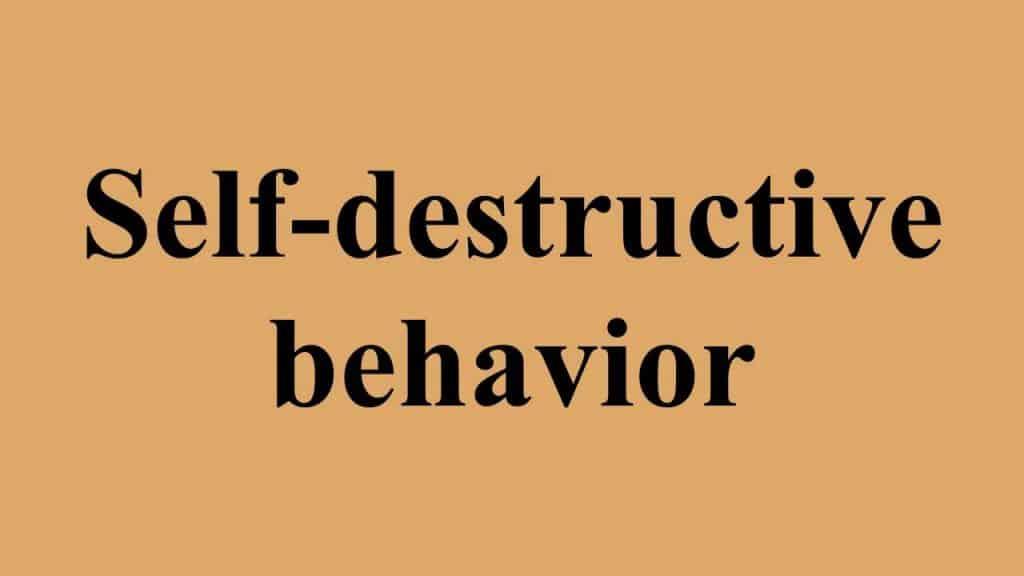 5 Habits of a Self-Destructive Person 1