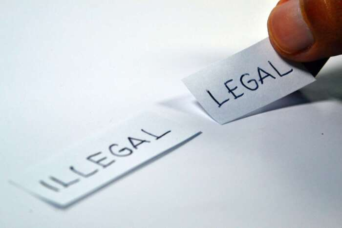 Legal - Illegal. Image by Fathromi Ramdlon from Pixabay