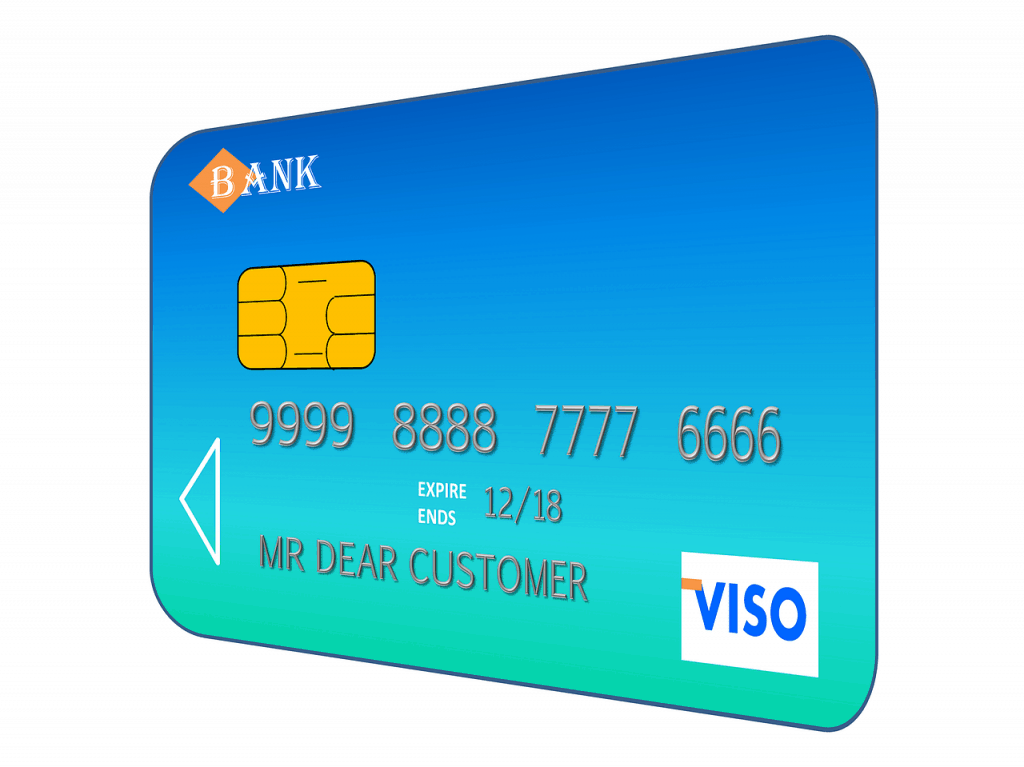 credit card. image by Tumisu from pixabay